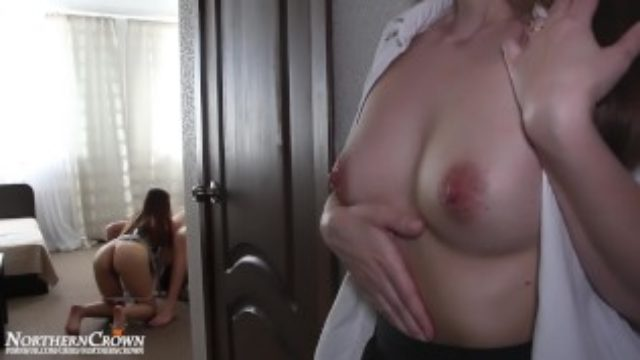 I come home and see how the maid sucks my husband's dick.